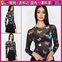 DOLLS KILL Casual Style U-Neck Long Sleeves Tops