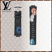 Louis Vuitton DAMIER GRAPHITE Blended Fabrics Watches Watches