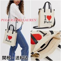 POLO RALPH LAUREN Heart Casual Style Canvas 2WAY Totes