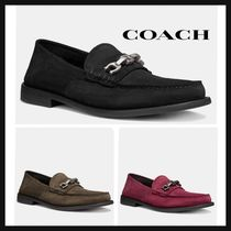 Coach Plain Toe Loafers Suede Plain Loafers & Slip-ons