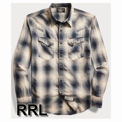 Other Check Patterns Street Style Long Sleeves Shirts
