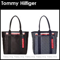 Tommy Hilfiger Monogram Unisex A4 PVC Clothing Office Style Totes