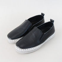 mooda Platform Round Toe Casual Style Plain Leather With Jewels