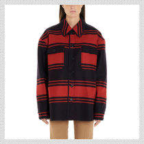 N21 numero ventuno Stripes Wool Long Sleeves Shirts & Blouses