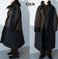Glen Patterns Plain Long Oversized Coats