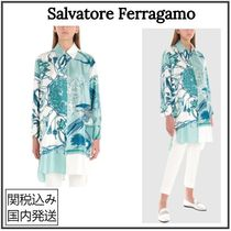 Salvatore Ferragamo Casual Style Silk Long Sleeves Party Style Home Party Ideas