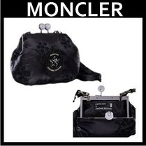 MONCLER Flower Patterns Nylon Party Style With Jewels Elegant Style