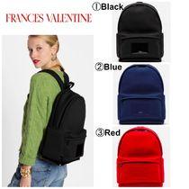FRANCIS VALENTINE Casual Style A4 Plain Office Style Backpacks