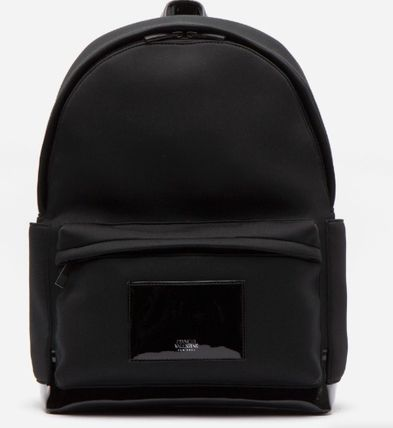 Casual Style A4 Plain Office Style Logo Backpacks