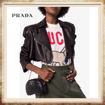 PRADA Casual Style 2WAY Chain Plain Leather Party Style