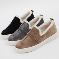 Platform Moccasin Round Toe Casual Style Suede Faux Fur