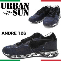 URBAN SUN Camouflage Unisex Suede Street Style Leather Sneakers