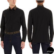 FENDI Bi-color Long Sleeves Cotton Shirts