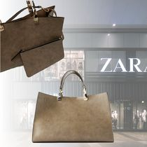 ZARA A4 Other Animal Patterns Office Style Elegant Style Totes