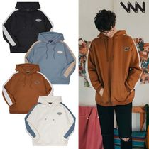 WV PROJECT Pullovers Unisex Street Style Long Sleeves Plain Cotton