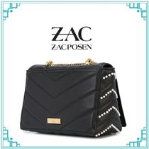 Zac Posen Casual Style Leather Party Style Office Style Elegant Style