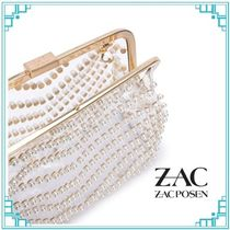Zac Posen Flower Patterns Casual Style Party Style Crystal Clear Bags