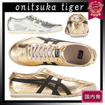 Onitsuka Tiger Unisex Street Style Bi-color Leather Sneakers