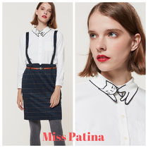 Miss Patina Casual Style Long Sleeves Plain Elegant Style