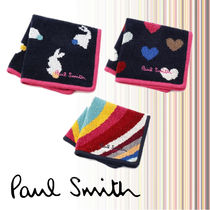Paul Smith Stripes Heart Other Animal Patterns Cotton Handkerchief