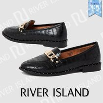 River Island Round Toe Casual Style Faux Fur Studded