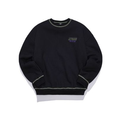 Crew Neck Unisex Street Style Long Sleeves Cotton Medium