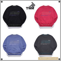 TWN Crew Neck Unisex Street Style Long Sleeves Cotton Medium
