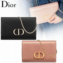 Christian Dior Calfskin Lambskin 2WAY Chain Plain Party Style Elegant Style