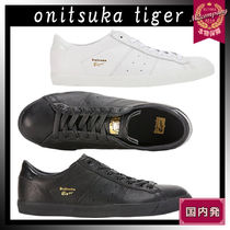 Onitsuka Tiger Unisex Faux Fur Blended Fabrics Street Style Plain Leather