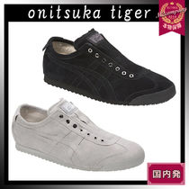 Onitsuka Tiger Unisex Street Style Plain Leather Loafers & Slip-ons