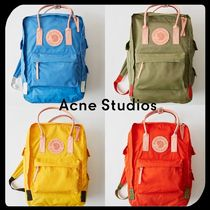 Acne Casual Style Collaboration Bi-color Backpacks