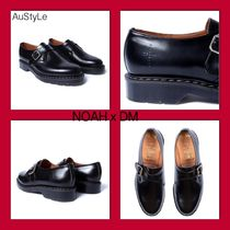 NOAH NYC Monk Plain Leather Loafers & Slip-ons