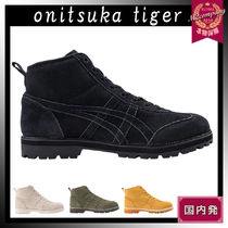 Onitsuka Tiger Unisex Street Style Plain Leather Boots