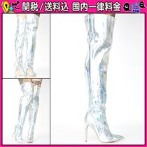 DOLLS KILL Casual Style Pin Heels Over-the-Knee Boots