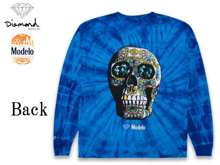 Crew Neck Unisex Street Style Tie-dye Collaboration