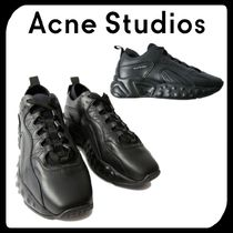 Acne Street Style Plain Leather Sneakers