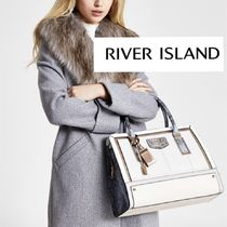 River Island Casual Style Faux Fur A4 2WAY Plain Office Style Python