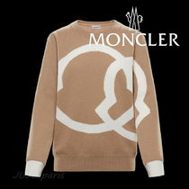MONCLER Crew Neck Wool Cashmere Long Sleeves Plain Cashmere