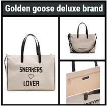 Golden Goose Casual Style A4 2WAY Leather Totes