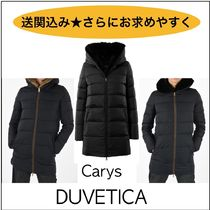 DUVETICA carys Fur Plain Long Logo Down Jackets