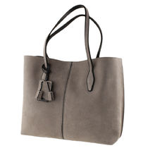 TOD'S Suede Plain Office Style Totes
