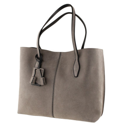 Suede Plain Office Style Totes