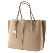 TOD'S A4 Plain Leather Office Style Totes