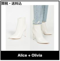 Alice+Olivia Plain Leather Ankle & Booties Boots