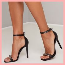 Chi Chi London Pin Heels Party Style With Jewels Heeled Sandals