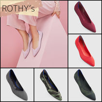 ROTHY'S Gingham Camouflage Wedge Casual Style Plain Party Style