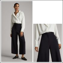 Massimo Dutti Casual Style Plain Long Office Style Elegant Style Culottes