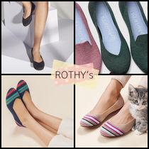 ROTHY'S Stripes Round Toe Casual Style Flats