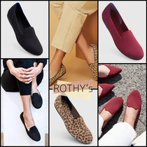 ROTHY'S Leopard Patterns Round Toe Casual Style Plain Party Style