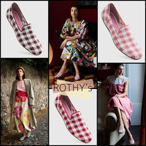 ROTHY'S Gingham Round Toe Casual Style Party Style Office Style